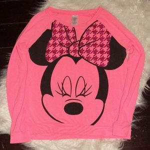 DISNEY MINNIE MOUSE Long Sleeve Shirt Large 11/13